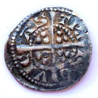 Edward I silver farthing Newcastle mint rev.